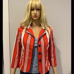 Luella for Target striped cotton jacket r/w/blue